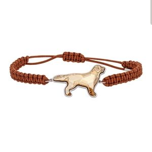Swarovski Pets Golden Retriever braided bracelet